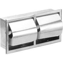 Porta rolos duplo de encastrar aço brilhante - NOFER