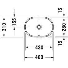 Lavatório de encastrar Foster oval - DURAVIT