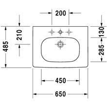 Lavatório para móvel 65 D-Code - DURAVIT
