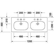 Lavatório duplo para móvel D-Code - DURAVIT