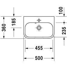 Lavatório para móvel 50 Happy D.2 - DURAVIT