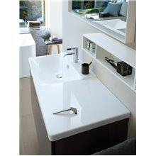 Lavatório assimétrico lado esquerdo para móvel 125 P3 Comforts - DURAVIT