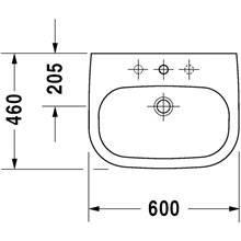 Lavatório mural 60 D-Code - DURAVIT