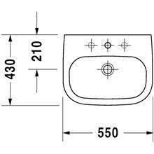 Lavatório mural 55 D-Code - DURAVIT