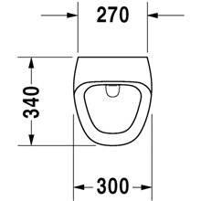 Urinol Durastyle alimentação posterior - DURAVIT