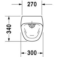 Urinol Durastyle alimentação posterior 30 - DURAVIT