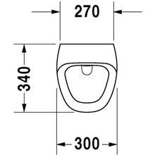 Urinol eletrónico com ligação à rede elétrica Durastyle - DURAVIT