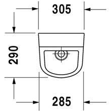 Urinol D-Code alimentação posterior - DURAVIT
