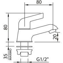 Torneira simples de lavatório Start Elegance - CLEVER