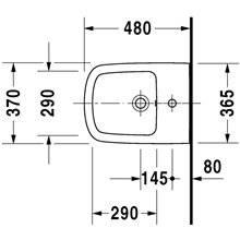 Bidé suspenso Compact DuraStyle - DURAVIT