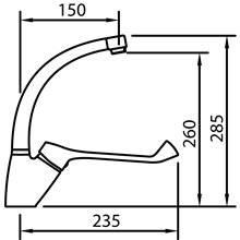 Torneira de lavatório com manípulo geronológico S12 Urban - CLEVER