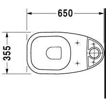 Sanita completa tanque baixo 65 D-Code - DURAVIT