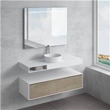Conjunto bancada + lavatório ACIS gaveta NATUGAMA
