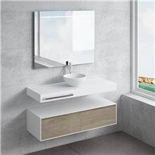 Conjunto bancada + lavatório CALIPSO toalheiro NATUGAMA