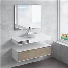 Conjunto bancada + lavatório CALIPSO gaveta NATUGAMA