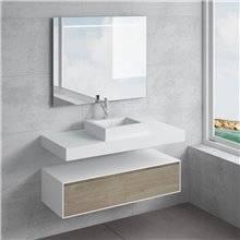 Conjunto bancada + lavatório GALATEA NATUGAMA