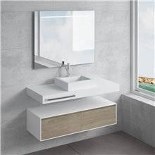 Conjunto bancada + lavatório GALATEA toalheiro NATUGAMA