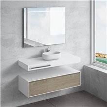 Conjunto bancada + lavatório NEREIDA toalheiro NATUGAMA