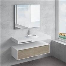Conjunto bancada + lavatório CORUS toalheiro NATUGAMA