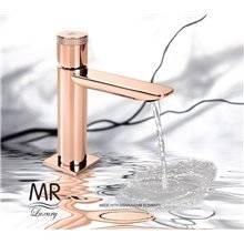 Torneira monocomando em ouro rosa swarovski 14F3 SERPI - Griferías MR
