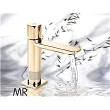 Torneira monocomando em ouro swarovski 14F8 SERPI - Griferías MR