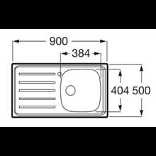 Lava-louça com escorredor ESQ 90x50cm E Roca