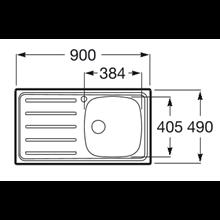 Lava-louça com escorredor ESQ 90x49cm J Roca