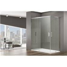 Painel angular de duche 2 portas de correr BASIC - GME