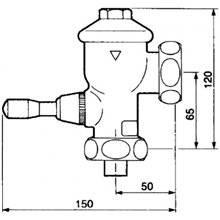 Fluxómetro sanita PRESTO Eyrem