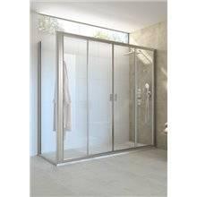 Painel angular de duche 2 portas de correr Ura Roca