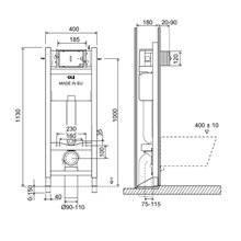Cisterna de encastrar EXPERT EVO Sanitarblock Autoportante 820 - OLI