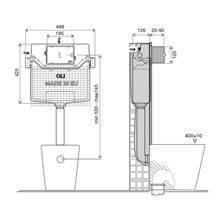 Cisterna de encastrar OLI120 PLUS Hidroboost