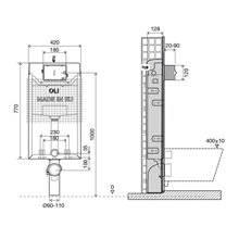 Cisterna de encastrar OLI120 PLUS Simflex Mecânica