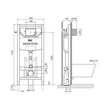 Cisterna de encastrar OLI120 PLUS Sanitarblock Autoportante Mecânica