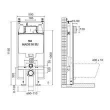 Cisterna de encastrar OLI74 PLUS S90 Sanitarblock Mecânica