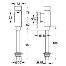 Fluxómetro de urinol Rondo - GROHE